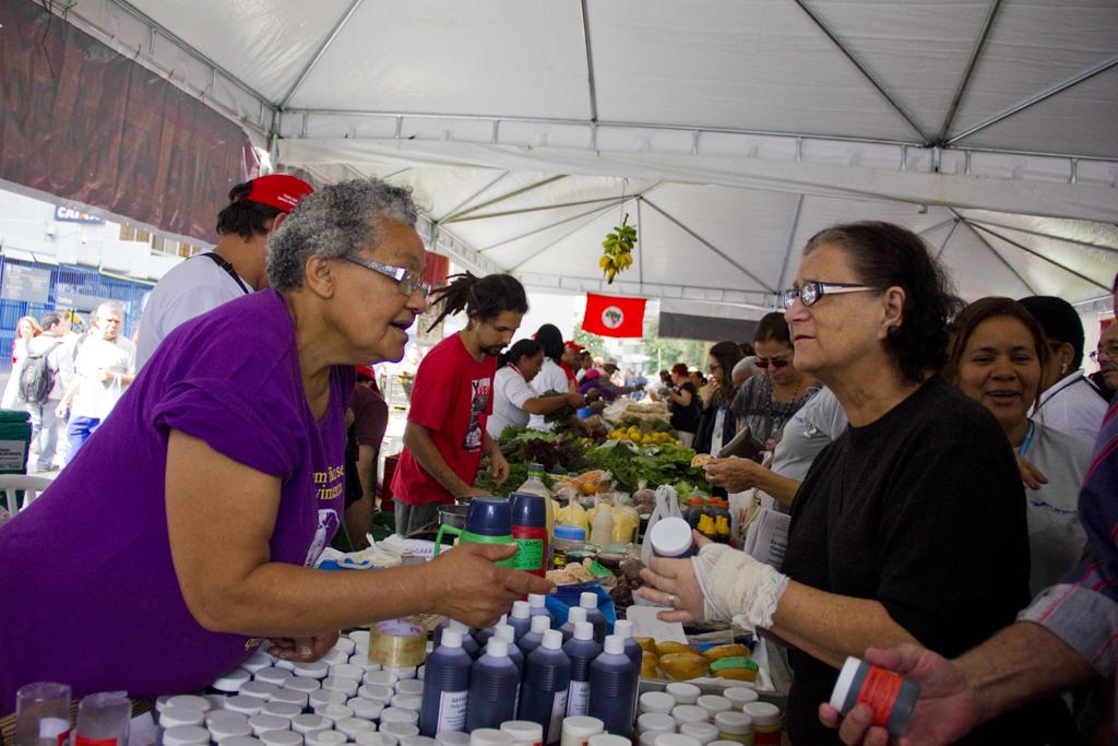 Fitoterápicos do Setor de Saúde fizeram sucesso. Foto: Fábio Caffé/Imagens do Povo.