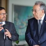 João Rabelo, do BB, com o presidente da CNA, João Martins